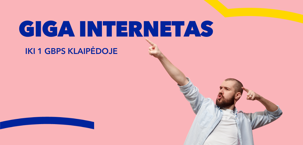 Greitas internetas Klaipėdoje