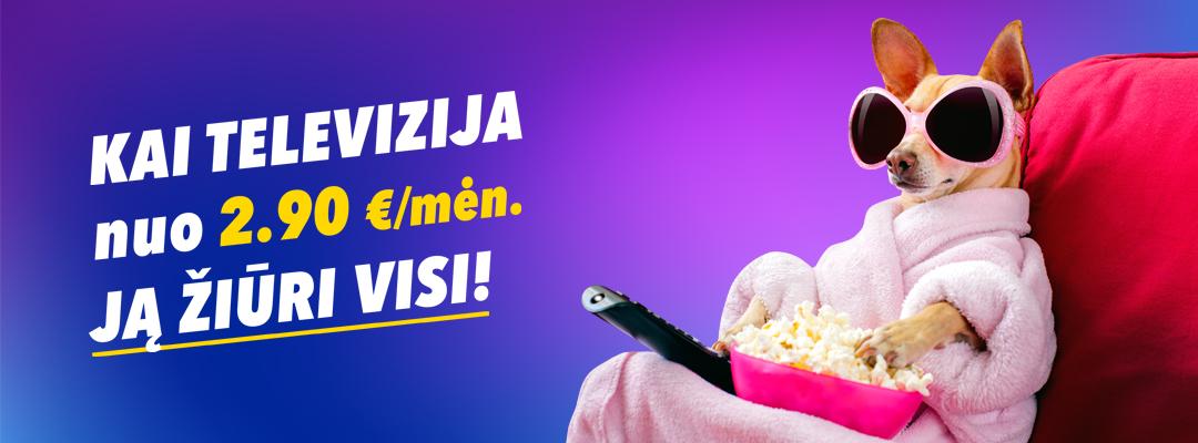 Išmanioji televizija vos nuo 2,90 Eur/mėn.