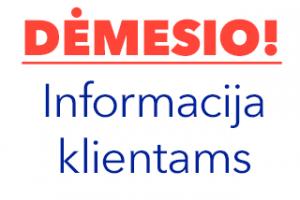 Informacija apie asmens duomenų tvarkymą
